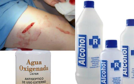 como desinfectar una herida