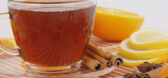 té de limón y canela