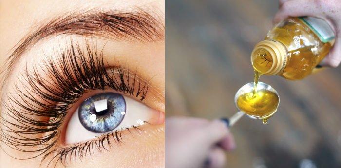 aceite de oliva en las pestañas