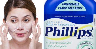 como se usa la leche de magnesia en la cara