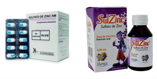 para que sirve el sulfato de zinc en la salud