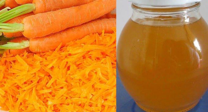 cómo hacer un suero natural de zanahoria