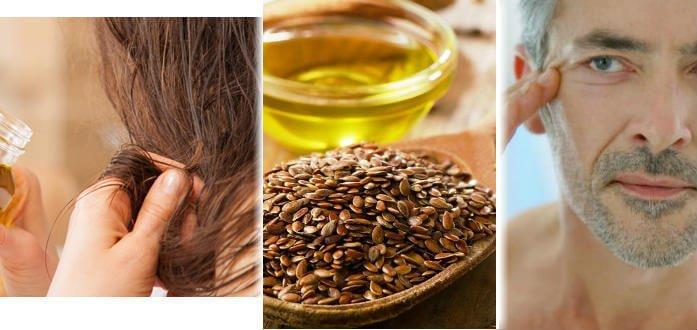 aceite de lino para el cabello y la piel