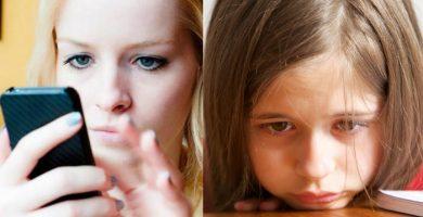 Los padres adictos al teléfono terminan afectan el desarrollo de sus hijos